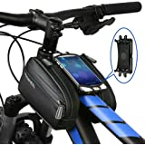 Roswheel Bicycle Top Tube Bag for Bike Accessories High Sensitive PVC Touch Screen Waterproof Multi-function Smartphone Bag