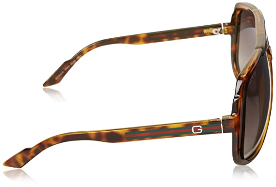 c140594c36c Amazon.com  Gucci Men s GG 1622 S Havana Gray Sf Flash Gold  Clothing