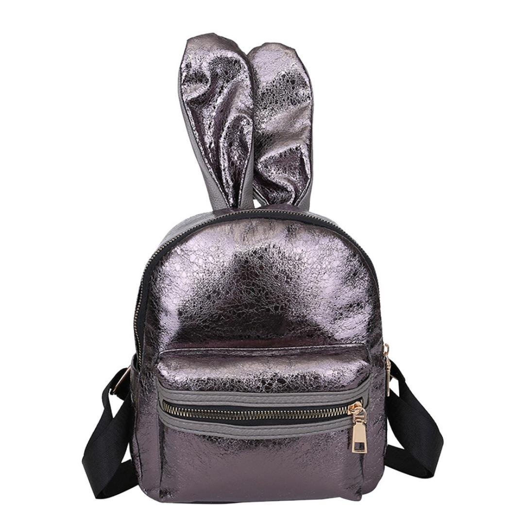 Women PU Leather Fashion Backpack Purse Dark Blue Flower Travel School Shoulder Bag Girls Ladies Daypack Handbags