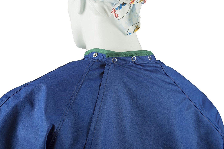 Bata quirúrgica reutilizable y esterilizable / Norma de Desempeño / Clase 1 NO ESTÉRIL / Tallas M azul oscuro 99 % poliéster +1 % fibra de carbono.