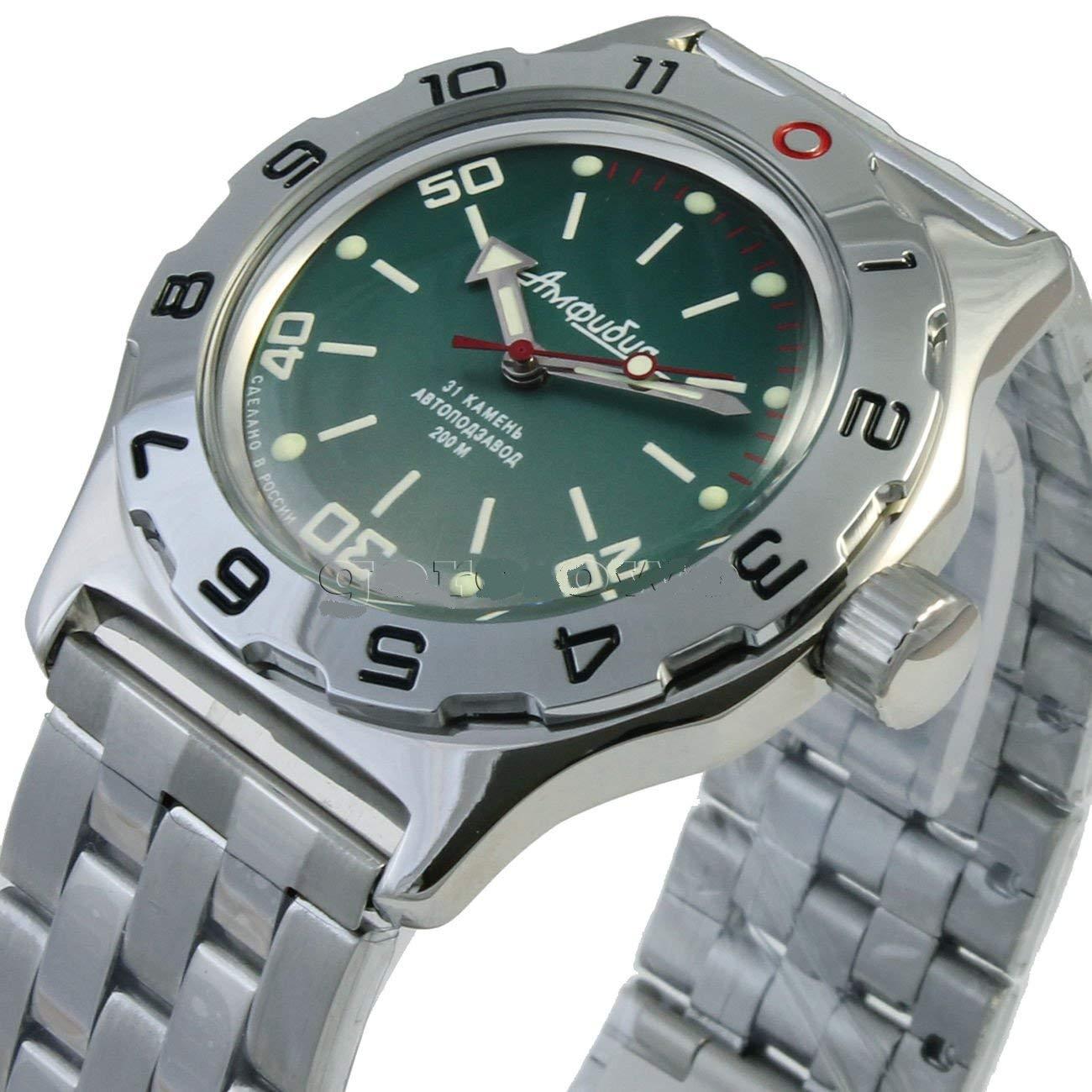 Amazon.com: Vostok New Amphibian 100821 Russian Automatic Divers Wrist Watch 200m Auto Green: Vostok: Watches