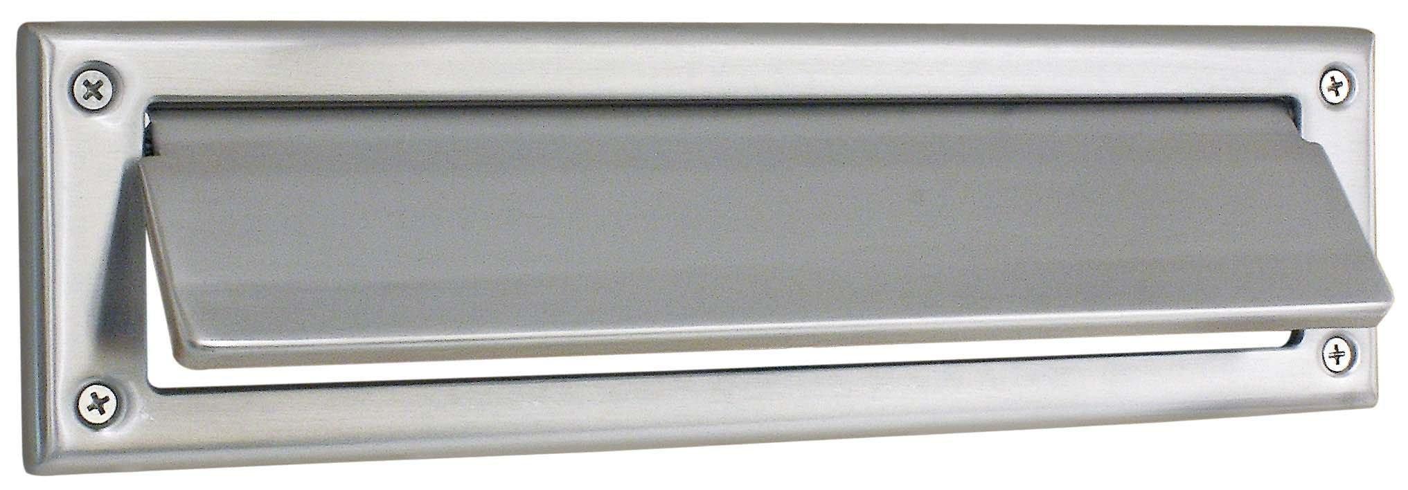 Emtek 2280 13-1/16'' Length x 3-3/8'' Height Solid Brass Mail Slot, Oil Rubbed Bronze