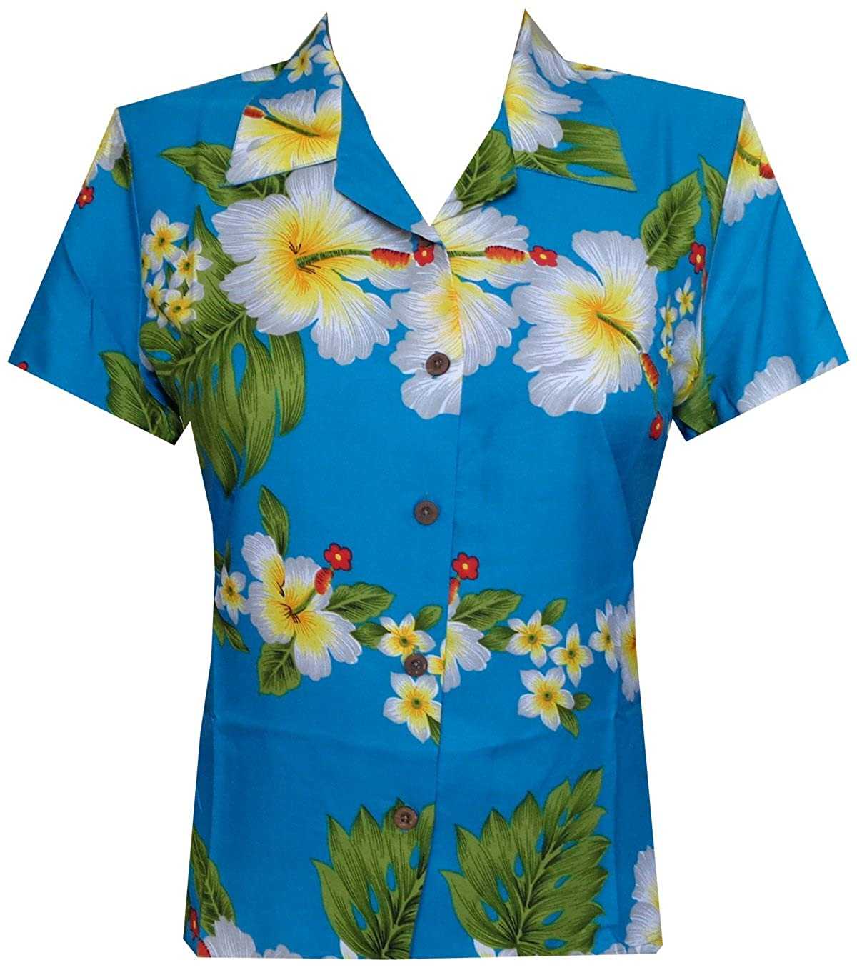 e222f753 Hibiscus Flower Printed Aloha Hawaiian Shirt 100% Polyester Machine Wash  and Wrinkle Free Coconut Buttons Gives You Tremendous look.