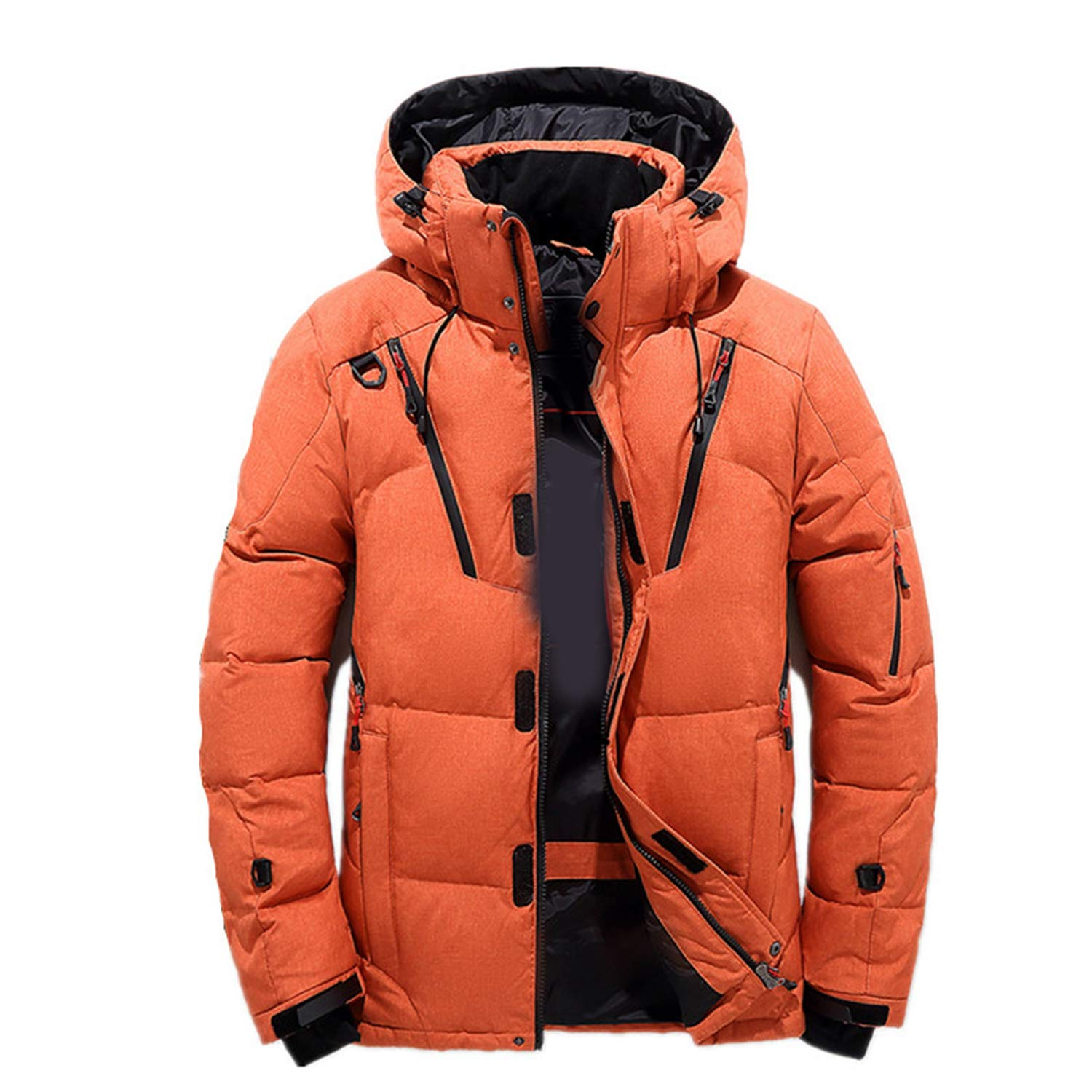 New 90% White Duck Thick Down Jacket Coat Snow Parkas Hood Winter Down Coat Thickening Business Jackets Coat M-3XL at Amazon Mens Clothing store: