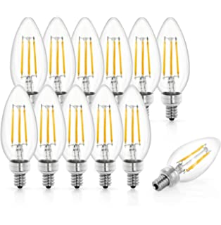 Tenergy LED Candelabra Bulbs Dimmable, 4W (40 Watt Equivalent) Warm White Soft White