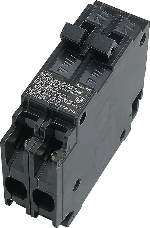 Siemens Q3030 Two 30-Amp Single Pole 120-Volt Circuit Breaker ...