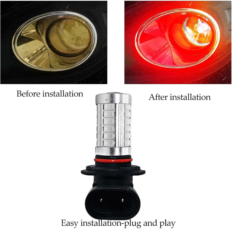 YaaGoo bright fog lights LED DRL bulbs,red,1157,BAY15D