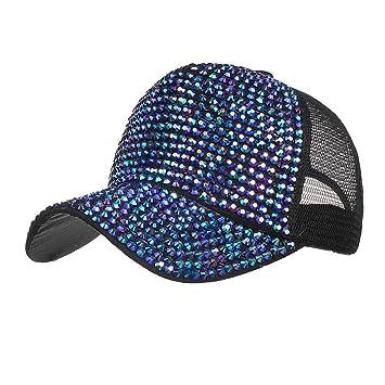 Amazon.com  Botrong Women Rhinestone Hats Female Baseball Cap Bling ... da70d56c546