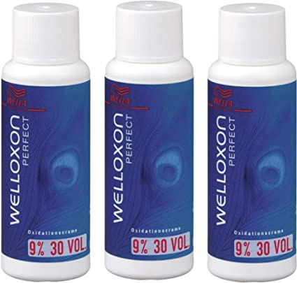3 unidades de peróxido de hidrógeno Welloxon Perfect 9% H2O2 Wella Professionals 60 ml