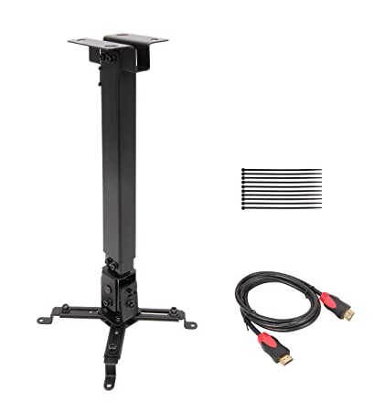 Cable Matters® Projector Adjustable Ceiling Mount with 6 Feet High Speed HDMI Cable Projector Accessories at amazon