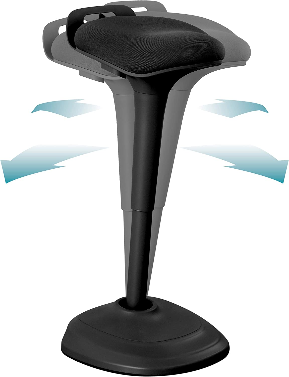 Wobble Stool Chair Standing Desk Chair 27.56 to 37.79 Inches, Adjustable Standing Stool, Sitting Balance Chair, Comfortable and Breathable Seat - (Black) B07RM2N9L4