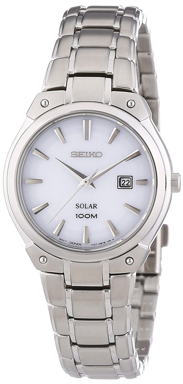 Seiko Damen-Armbanduhr XS Solar Analog Quarz Edelstahl SUT139P1