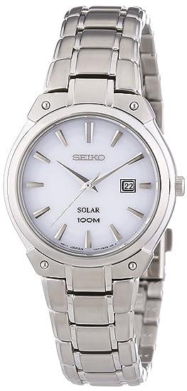 Seiko Reloj de Cuarzo para Mujer con Correa de Acero Inoxidable - SUT139P1: Seiko: Amazon.es: Relojes