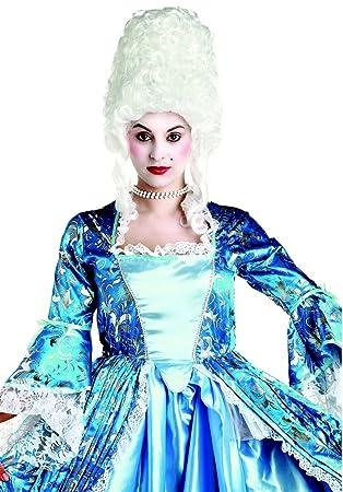 Peluca blanca de duquesa adulto - Única
