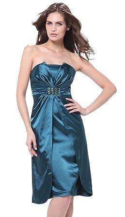 dfbd7e24fc2 Amazon.com  Meier Women s Strapless Short Satin Dress  Clothing