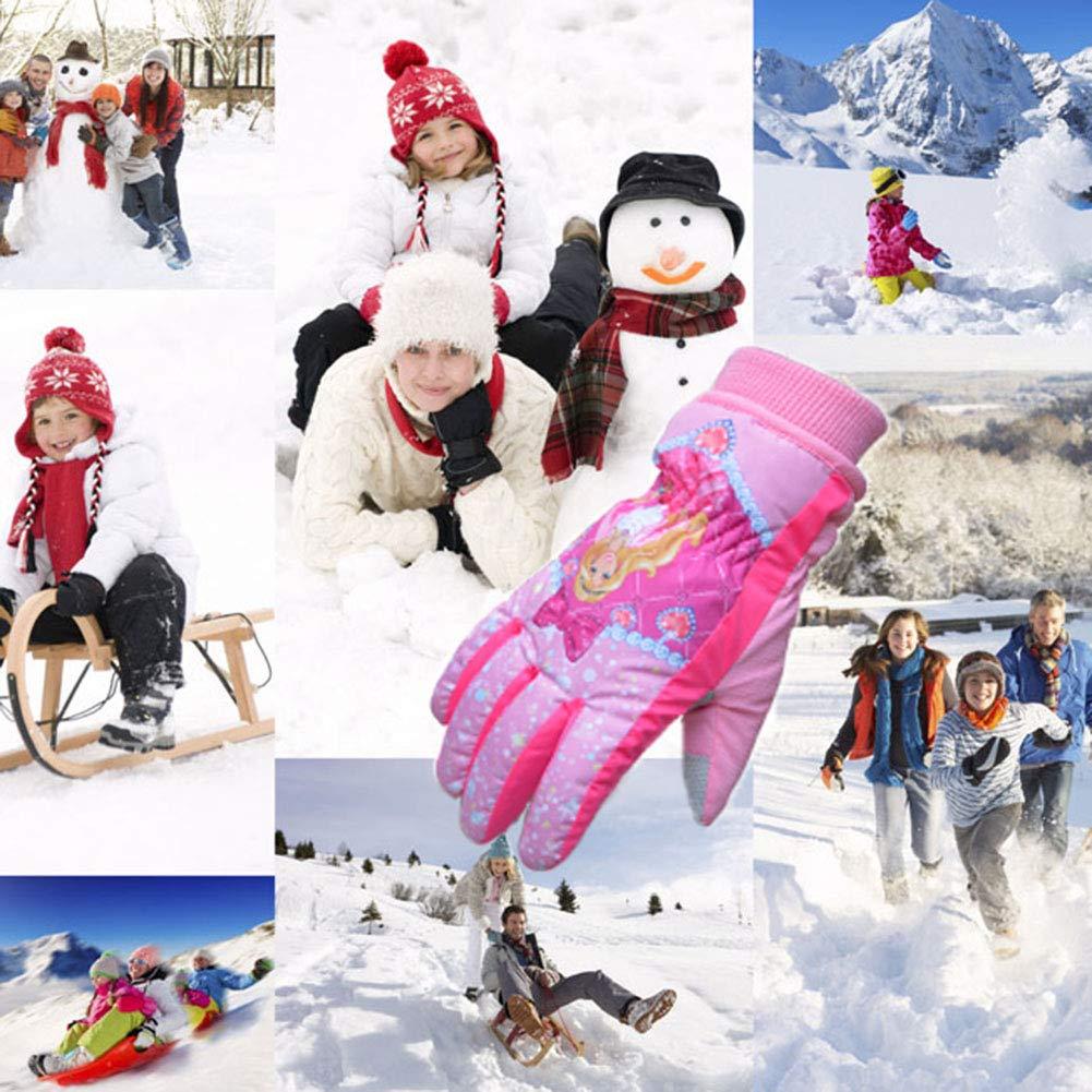 Smart J Guanti da Sci da Bambini Guanti Invernali Bambino Impermeabili e Antivento per Sci//Snowboard