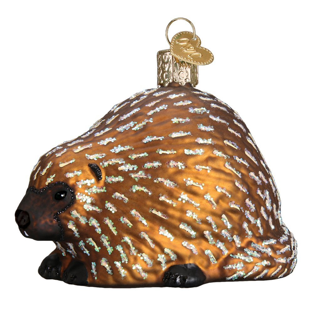 Old World Christmas Porcupine Glass Blown Ornament