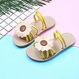Girl's Flower Flat Sandal Slippers Cute Summer Open Toe Princess Dress Sandals for Kids(Toddler/Little Kid/Big Kid) Y-26
