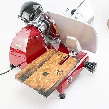 Schneiderbrett aus Fassholz Berkel Red Line 250 Profi-Aufschnittmaschine Rot
