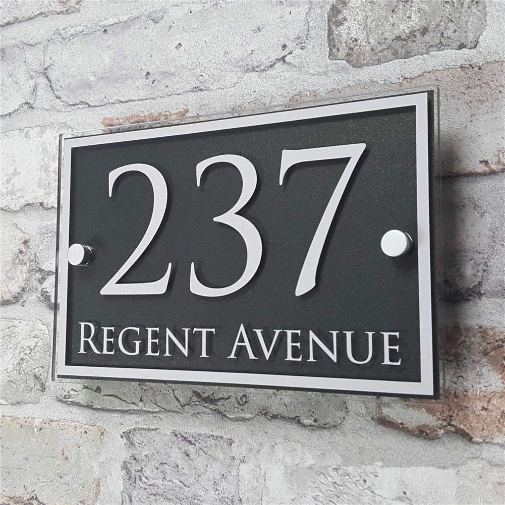 Customized Acrylic Door House Number Sign Apartment Street Address Effect Glass