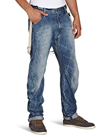 44095924bcf G-Star Raw mens ARC 3D loose tapered braces mens jeans 50708.3848 pants  (waist