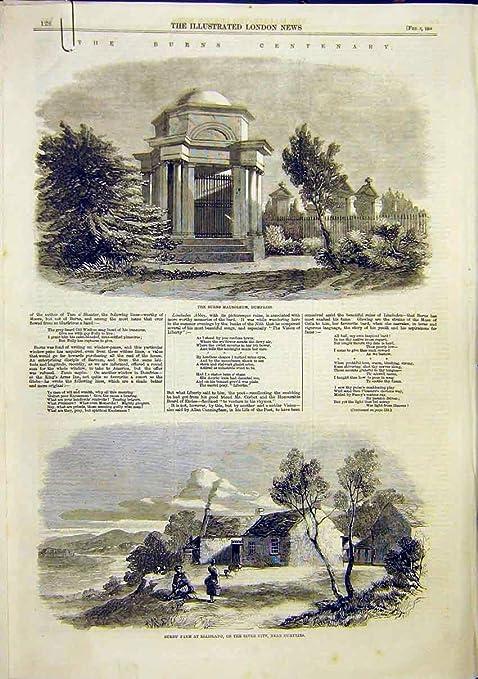 Taberna Escocia 1859 Del Globo De Dumfries Del Mausoleo De