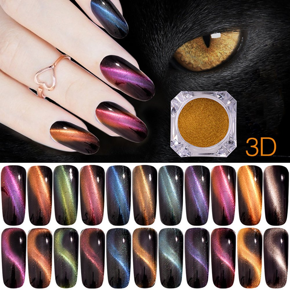 Esmalte de uñas Permanente,Beladla Kit UñAs De Gel Esmalte Semipermanente 3D Colore Gel Coat Shellac Laca Soak Off Top Coat Base Coat Polvo De Ojo De Gato: ...