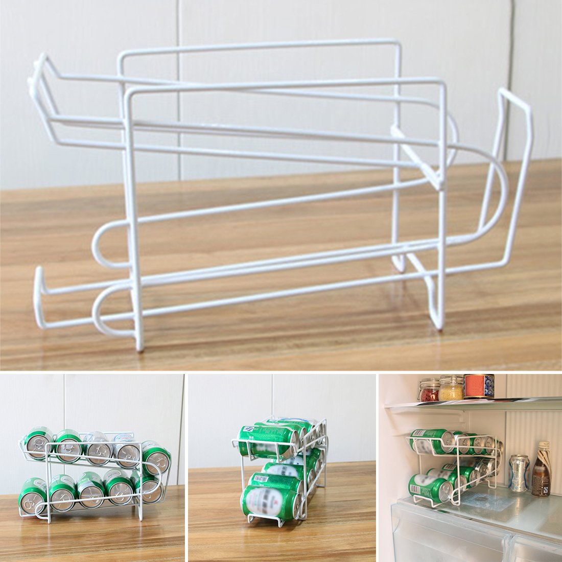 Amazon.com: Can Beer Beverage Soda Dispenser Holder Refrigerator Drink Storage Stand Can Rack (20.51318cm,white): Kitchen & Dining