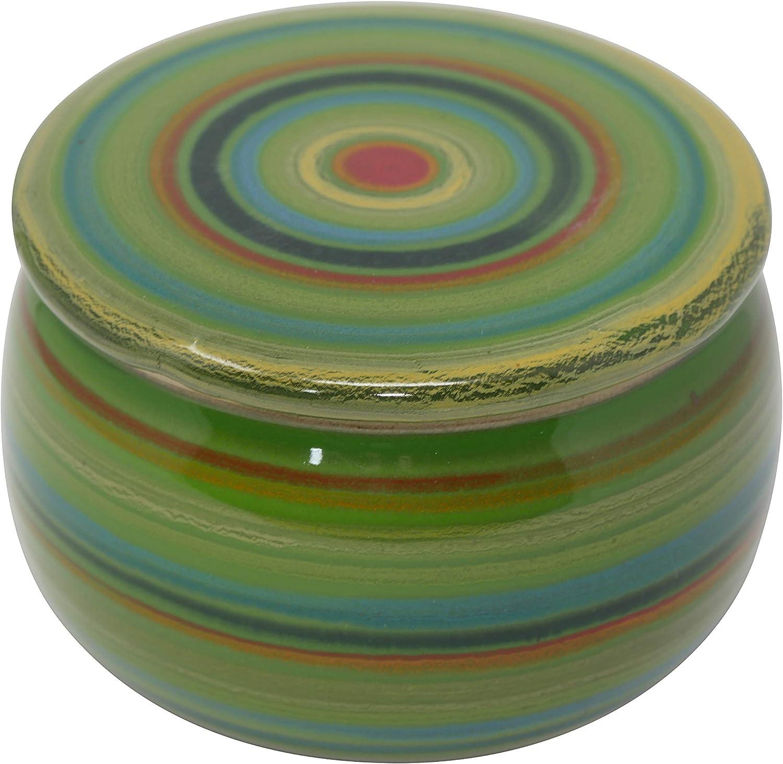 ca 250 g Butter Primavera Bunt B-G Original Franz/ösische Wassergek/ühlte Keramik Butterdose Immer Frisch Und Streichf/ähige Butter
