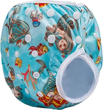 LUCKME Pañal Lavable, Pañal de Tela Reutilizable para bebés Pañales no Desechables Ajustables, Transpirables y Impermeables - Pañales ecológicos 100%,B: Amazon.es: Hogar