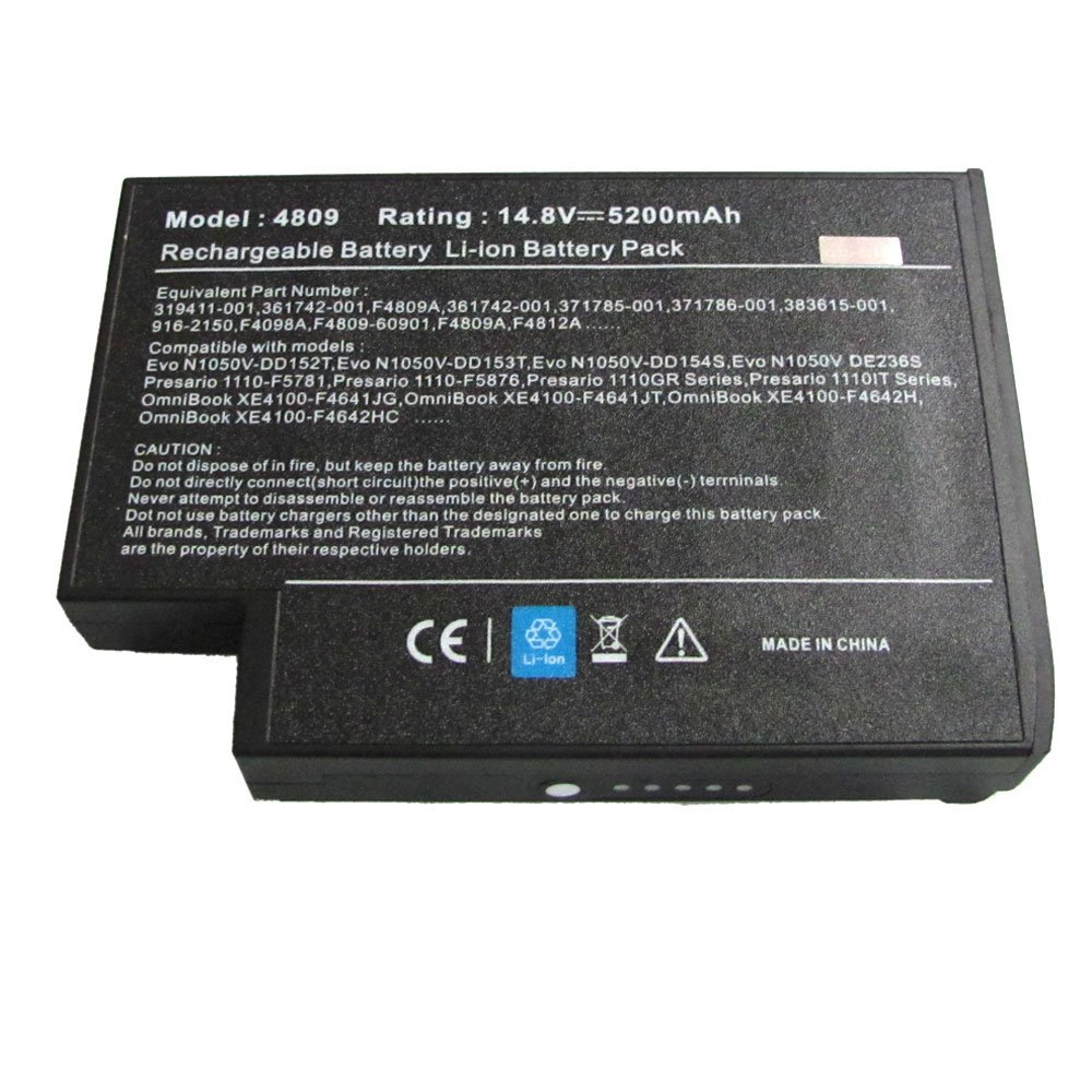 Replacement Laptop Battery for HP COMPAQ PRESARIO 2100 2500 F4809A  F4812A(8cell 14.8V 5200mAh): Amazon.co.uk: Computers & Accessories