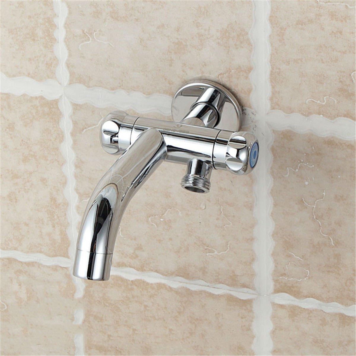 ETERNAL QUALITY Badezimmer Waschbecken Wasserhahn Messing Hahn Waschraum Mischer Mischbatterie Tippen Sie auf Dual-use-T-Stück mops Pool Hahn verfügt über Zwei Single he