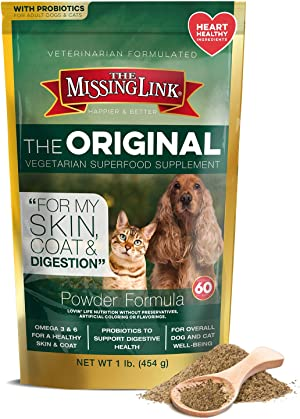 The Missing Link Supplements with Balanced Omegas and Heart Healthy Fresh Ground Flaxseed in Unique Formulas: Hip & Joint, Skin & Coat, Senior, Puppy & Overall Health – All Natural & Non-GMO