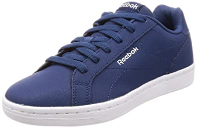 Reebok Men s Royal Complete CLN Washed Blue Coll Navy Wht Tennis Shoes - 6 8e81b4f09afa8