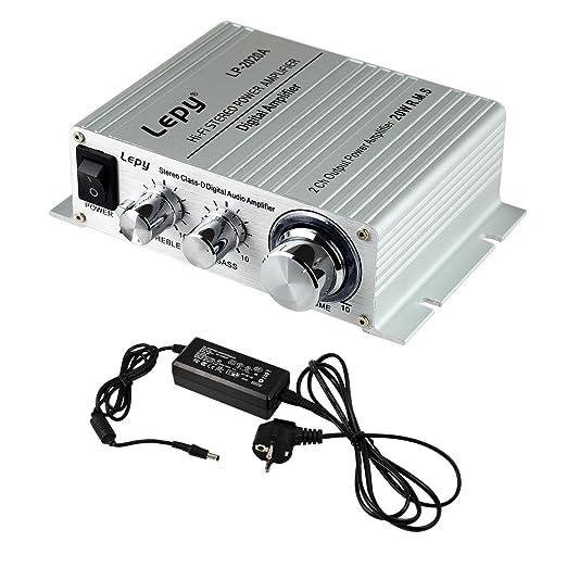 41 opinioni per LEPY LP- 2020A HIFI (2 x 20W) Amplificatore Audio Stereo per MP3 MP4 Telefono