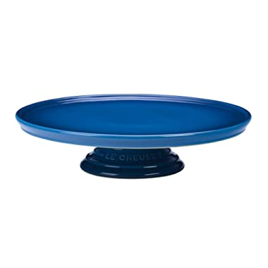 Le Creuset PG8600-2359 Stoneware Cake Stand, 12-Inch, Marseille