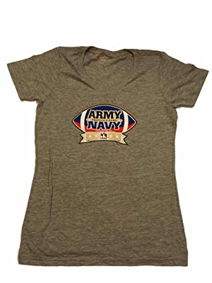 US Army vs US Navy 2015 America's Game WOMENS Gray SS V-Neck T-Shirt (L)