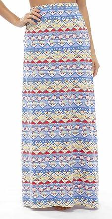 a1e70bf17c Tom Franks Ladies Pool Beach Holiday Aztec Print Polycotton Fashion Maxi  Skirt: Amazon.co.uk: Clothing