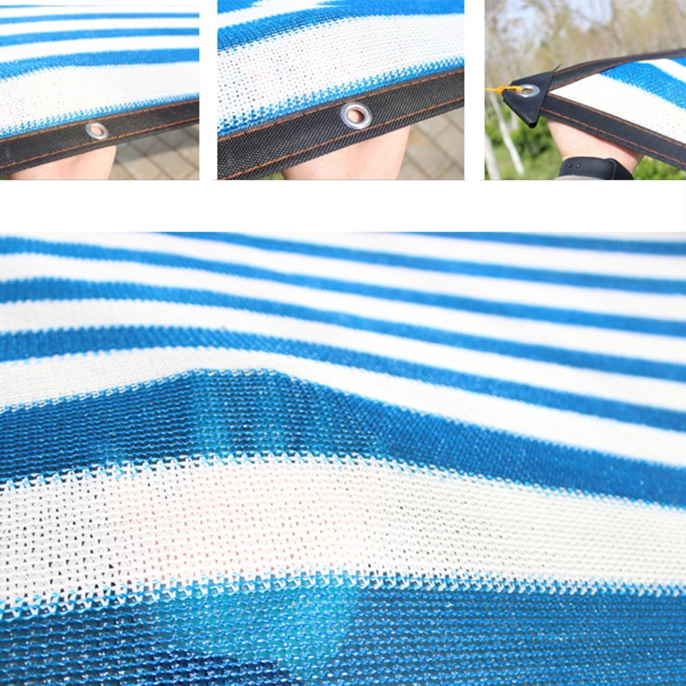 AJZGF Im Freien Sonnenschutznetz, Sonnenschutz Sonnenschutz Sonnenschutznetz Balkon Balkon Balkon GartenBlaume grün Sonnenschutz Sonnenschutznetz, blau  weiß (Farbe   BlauWeiß, größe   2x4m) B07H4RSJ61 Abspannseile Clever und praktisch c6b774