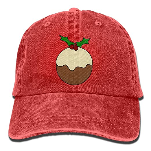 a03e371ddc85e5 Image Unavailable. Image not available for. Color: GqutiyulU Christmas  Pudding Adult Cowboy Hat Red