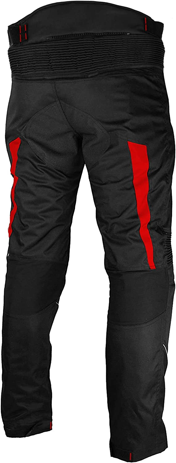 Motorbike Trouser Motorcycle Waterproof Cordura Textile Trousers Pants Armours For Mens Boys Black Size XS