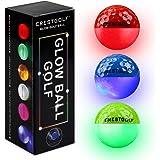 Crestgolf Led Glow Golf Balls in The Dark, Night [Built-in 4 Led] Lights Golf Balls Bright for Golf Long Distance(Red/Blue/Gr
