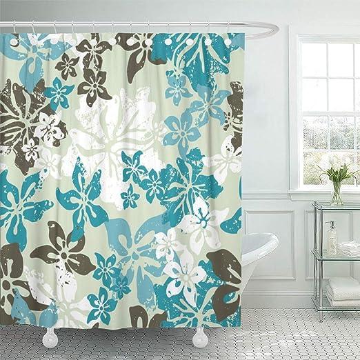 Hockey Shower Curtain Fabric Bathroom Decor Set with Hooks 4 Sizes