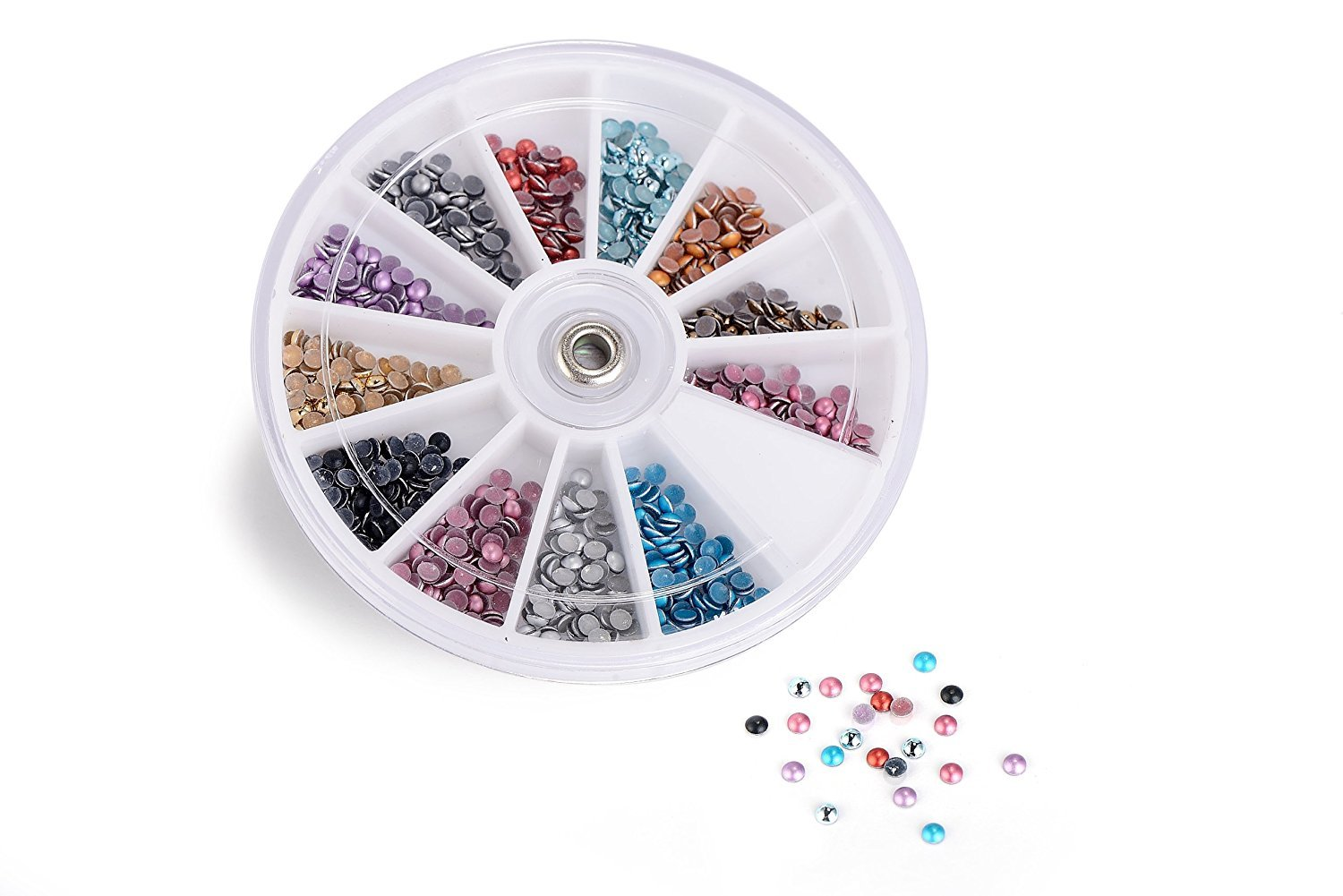 Glow Nail Art Decorations Half Round Pearl Design Rhinestones Paragon Enterprise Limited Glow-NA-6