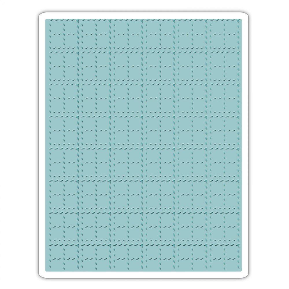 Sizzix 661610 Texture Fades Embossing Folder Stitched Plaid by Tim Holtz