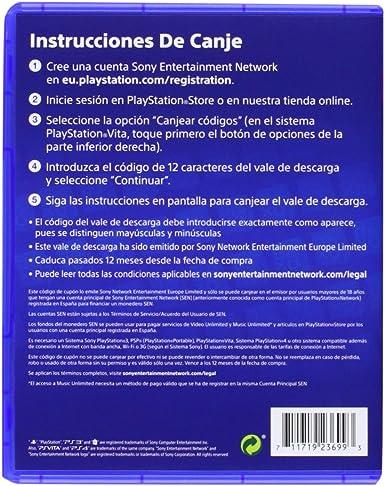 Sony - Tarjeta De Carga PSN De 20 - Reedición (PS3): Amazon.es: Videojuegos