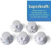 Reer 7998 - Protectores de seguridad para mandos de cocinas, 23,8 x 15 x 3,5 cm