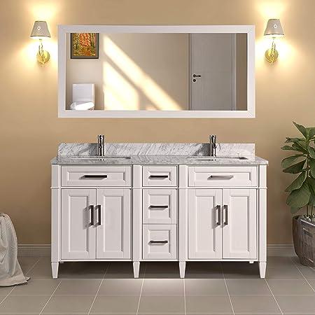 Amazon Com Vanity Art 60 Inch Double Sink Bathroom Vanity Set