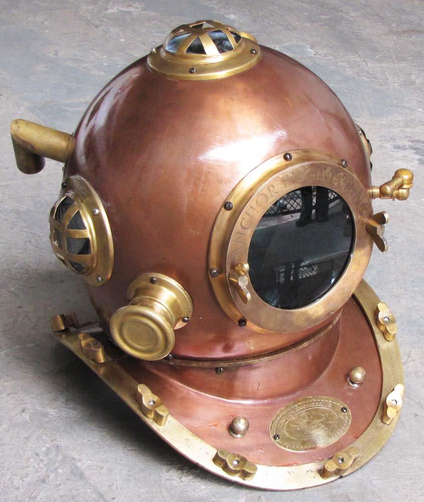 Nautical Marine Anchor Diving helmet Deep Sea Scuba Divers Helmet
