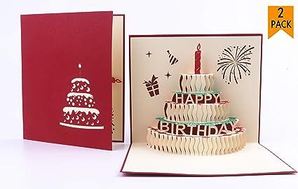 Amazon pop up birthday card fullive 3d birthday cake card pop up birthday cardfullive 3d birthday cake card creative happy birthday handmade greeting card m4hsunfo